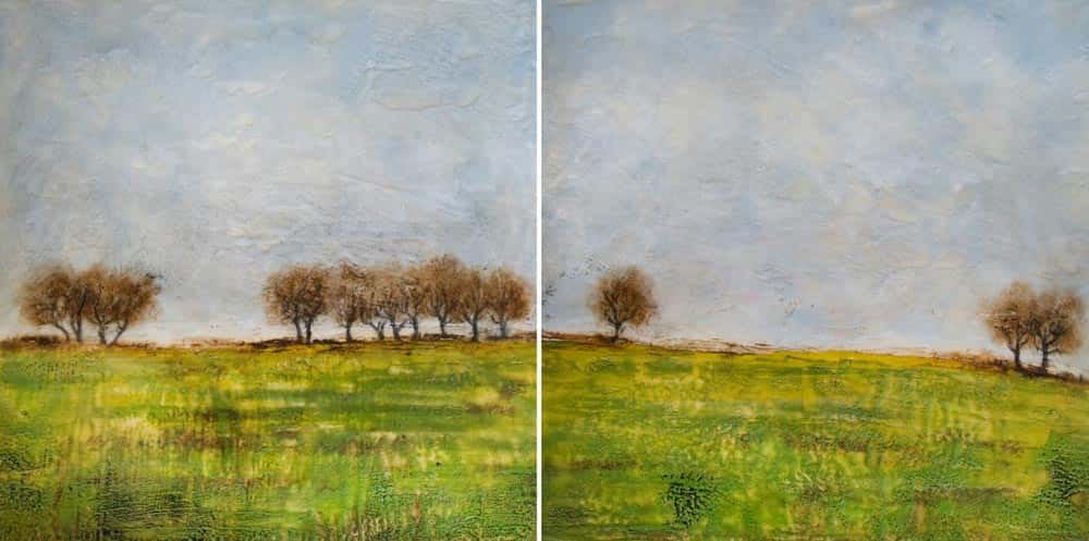 Tree Line (diptych)